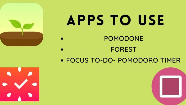 Apps to use for Pomodoro Technique