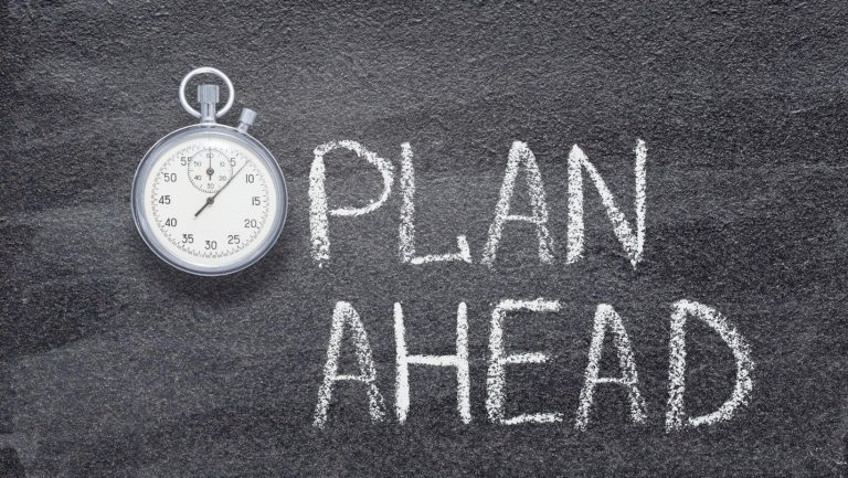 plan ahead to get the motivation to study