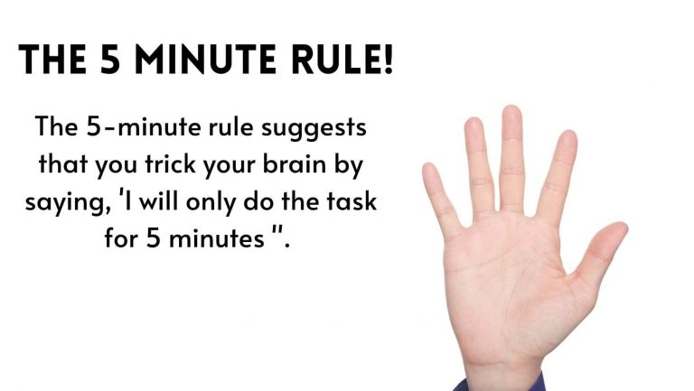 Use the %- minute rule to get the motivation to study