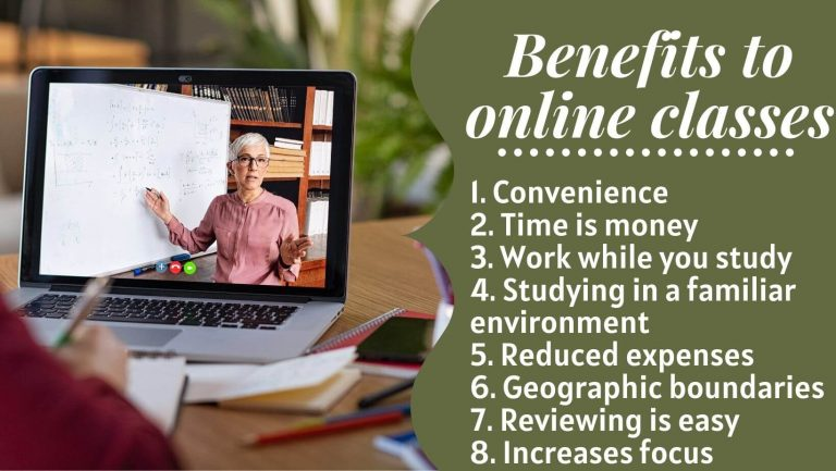 8 benefits to online classes