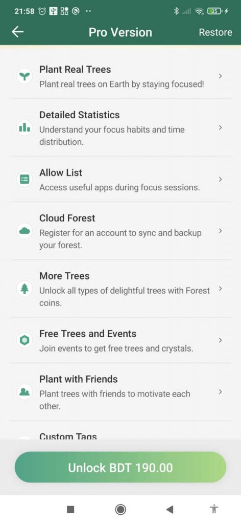 Forest app review : pro vs free