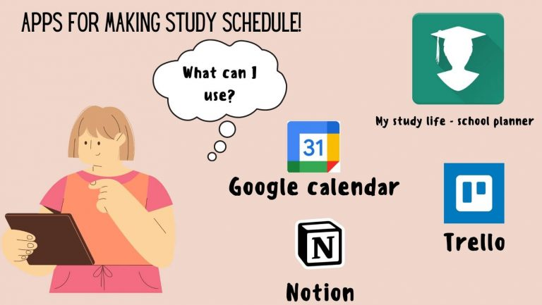 Create astudy schedule with these tools