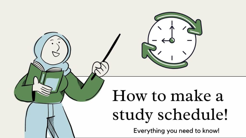 How to make a study schedule